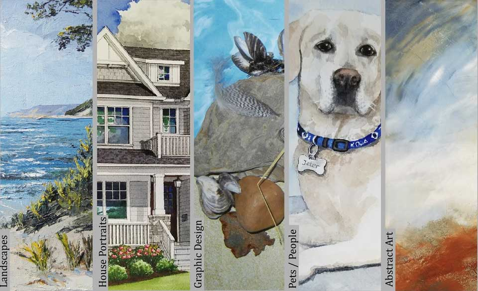 Prescott Art Studio - Landscapes, House Portraits, Graphic Design, Pets/People, Abstract Art